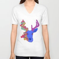 lsd V-neck T-shirts featuring LSD by DeadStag