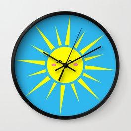 Happy Sun Wall Clock