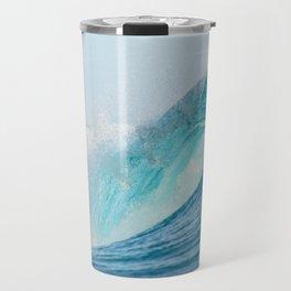 Crashing barrel wave in the Pacific Ocean Travel Mug
