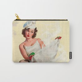 Pin Up Girl and Outdoor Grill Vintage Poster Carry-All Pouch