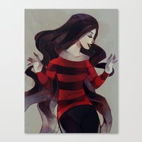 marceline Canvas Prints featuring Marceline by chuwenjie