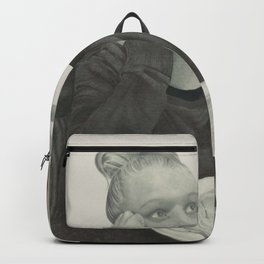 I crave pizza wall art, Black and White, Pencil drawing, Fine art prints, Prints illustrations Backpack