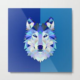 Graphic Wolf Metal Print