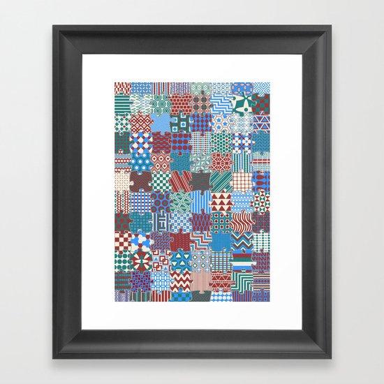 Pattern Patchwork Puzzle Framed Art Print