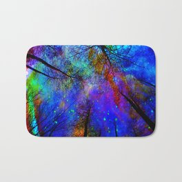 Colorful forest Bath Mat
