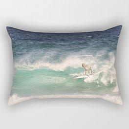 NEVER STOP EXPLORING - SURFING HAWAII Rectangular Pillow