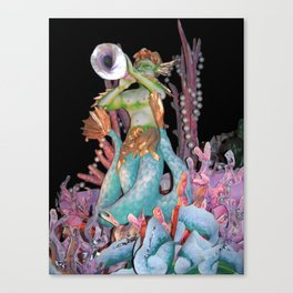 Triton Blows His Horn Canvas Print