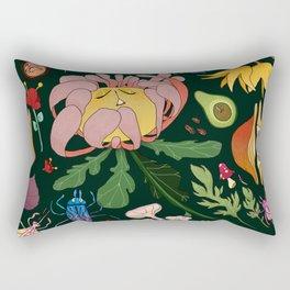 Magical flowers of Lamiak Rectangular Pillow