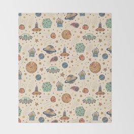 Cute Universe Throw Blanket