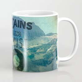 The Mountains are Calling And I Must Go Blue Coffee Mug