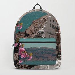Santorini landscape Backpack
