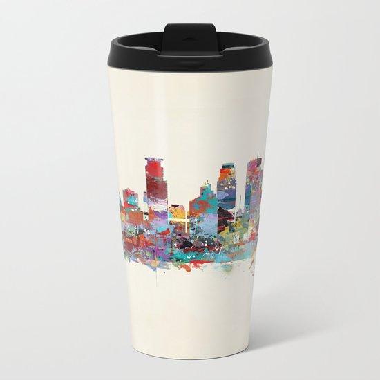 Minneapolis Minnesota skyline Metal Travel Mug