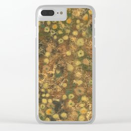 Golden Meadow Clear iPhone Case