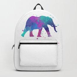 Elephant Watercolor I Backpack