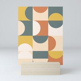 Mid Century Modern Geometric 23 Mini Art Print