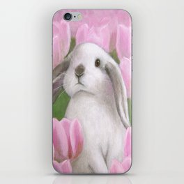 Bunny and Tulips iPhone Skin