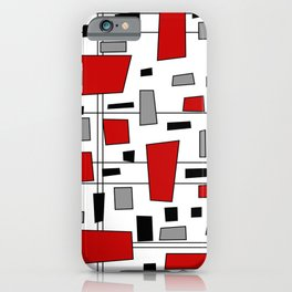 Rectangles and Lines 2 iPhone Case