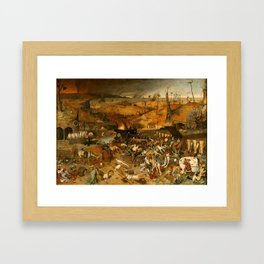 BRUEGEL THE ELDER, PIETER Bruegel Paises Bajos, 1525 - Bruselas, 1569 The Triumph of Death 1562 - 15 Framed Art Print