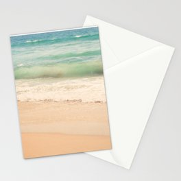 beach. Sea Glass ocean wave photograph. Stationery Cards