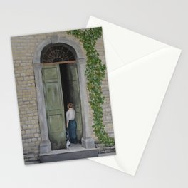 Going In and Out Stationery Cards