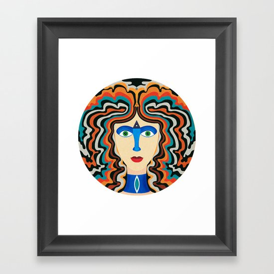 Blue Nose Framed Art Print