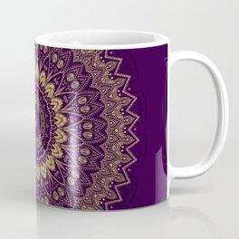 Harmony Circle of Gold on Purple Coffee Mug