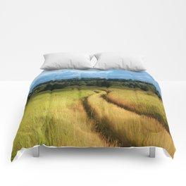 Path through Grassland Comforters