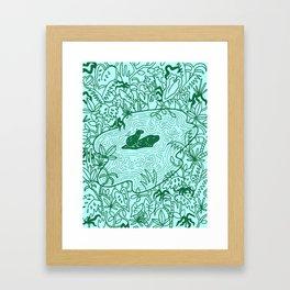 Capybara Jungle Framed Art Print