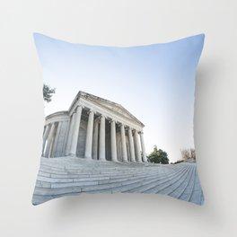 Skewed Politics Throw Pillow