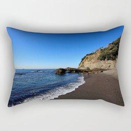 Black Sands Beach Rectangular Pillow