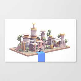 Waterfall Village Canvas Print