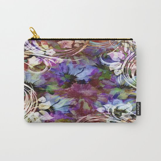 Fancy Midnight Floral Carry-All Pouch