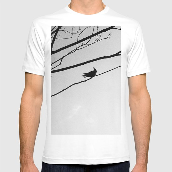 Bird on Tree BW T-shirt