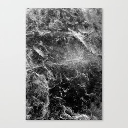 Enigmatic Black Marble #1 #decor #art #society6 Canvas Print