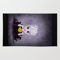 ursula Area & Throw Rugs featuring Villain Kids, Series 1 - Ursula by Joe Alexander