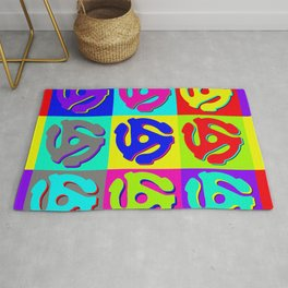 Pop Art Retro Vinyl Collector Rug