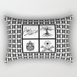 Amos Fortune Grid Pattern Rectangular Pillow