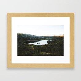 Rainbow Lake Sunrise Framed Art Print