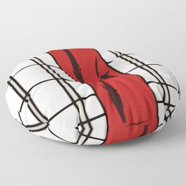 Shoji with bamboo ink painting Floor Pillow