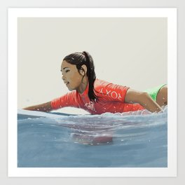 Roxy surf girl Art Print