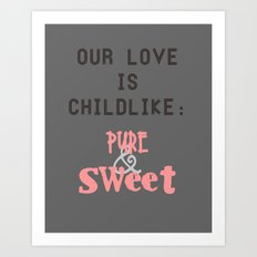 our love Art Print