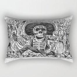 Calavera Oaxaquena by Jose Guadalupe Posada Rectangular Pillow