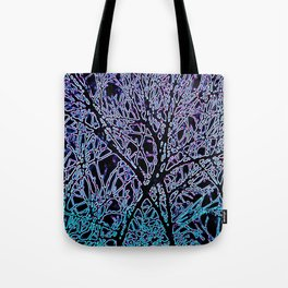 Tangled Tree Branches in Blue and Teal Tote Bag