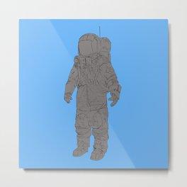 Astronaut Blue Metal Print