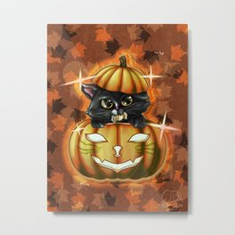 Spooky Cutey - v2 Candy Metal Print