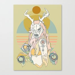 whitetail bones Canvas Print