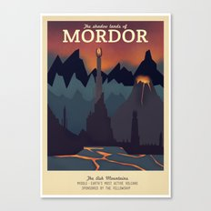 Retro Travel Poster Series - The Lord of the Rings - Mordor Canvas Print