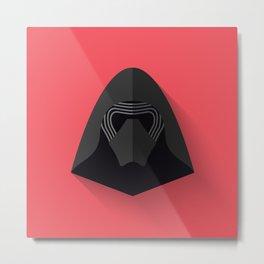 Kylo Ren Flat Design Metal Print