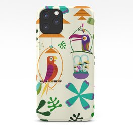 Vintage Modern Tiki Birds iPhone Case