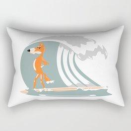 Fox Surfing Rectangular Pillow